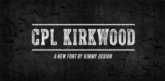 CPL Kirkwood - distressed font by Kimmy Kirkwood