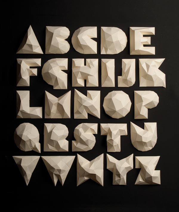 Cardboard Typography for EMPO by Li Siento Studio