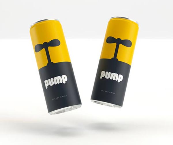 Energy drink packaging design concept by Character Agency