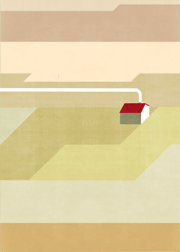 Farm Wall Illustration by Alessandro Gottardo