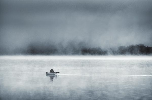 Foggy Lake Landscape Photography by Mikko Lagerstedt