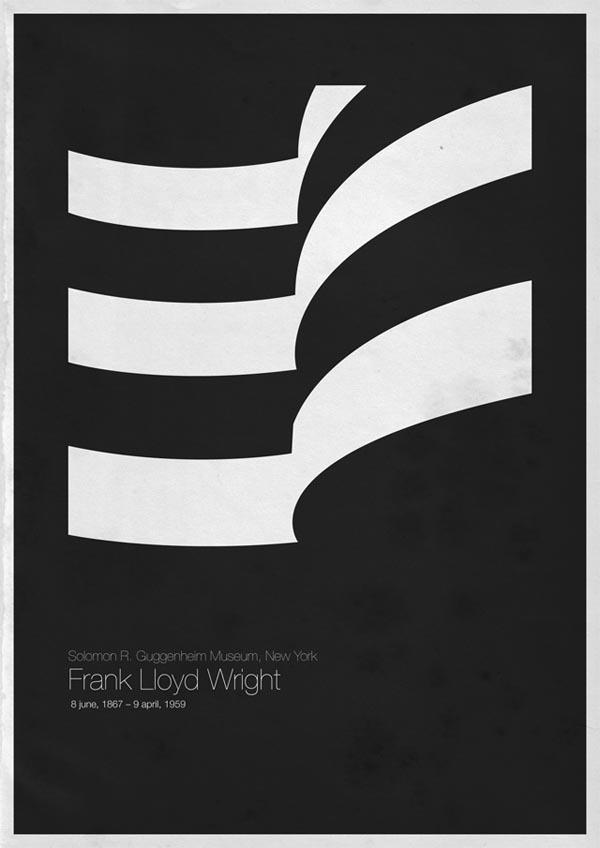 minimalist architecture poster designs by andrea gallo. Black Bedroom Furniture Sets. Home Design Ideas