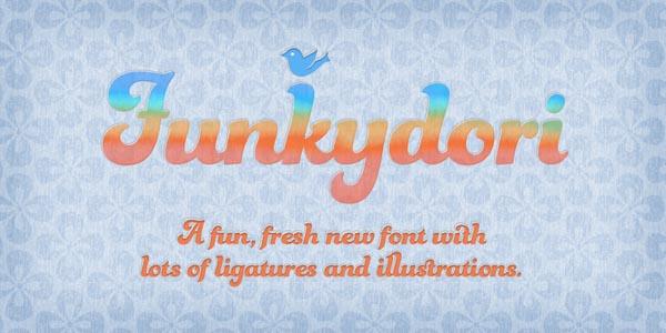 Funkydori Font - Retro 60s/70s Typeface by Laura Worthington