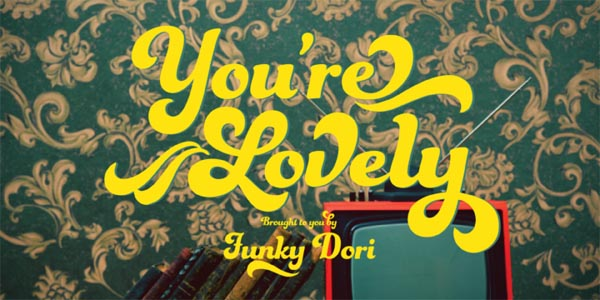 funkydori font retro 60s 70s typeface by laura worthington
