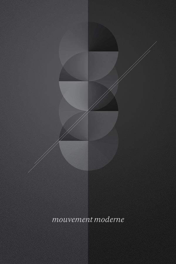 Simple Graphic Artwork of Geometric Shapes by ngrafik