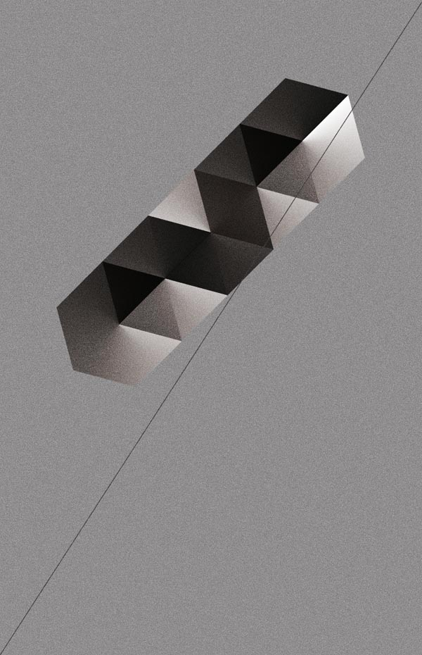 Graphic Artwork of Geometric Shapes by ngrafik