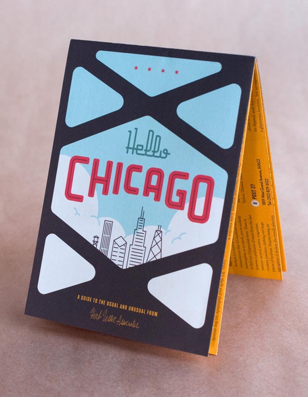 Herb Lester Associates - Chicago Map - Design and Illustration by Mike McQuade
