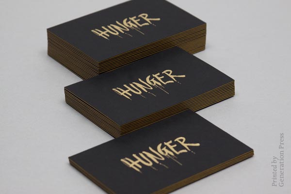 Hunger Business Card Design by Ben Jeffrey