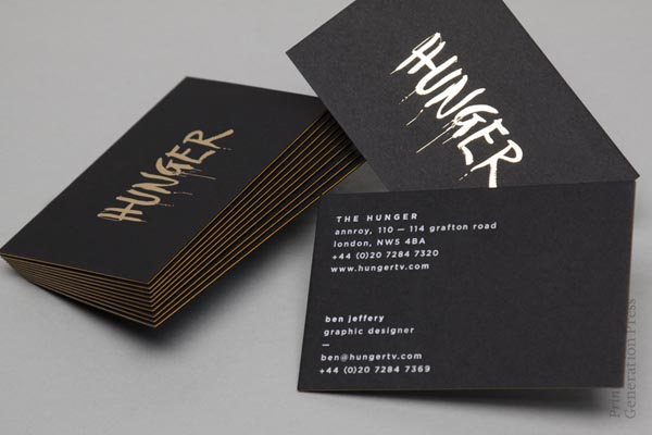 Hunger Business Cards