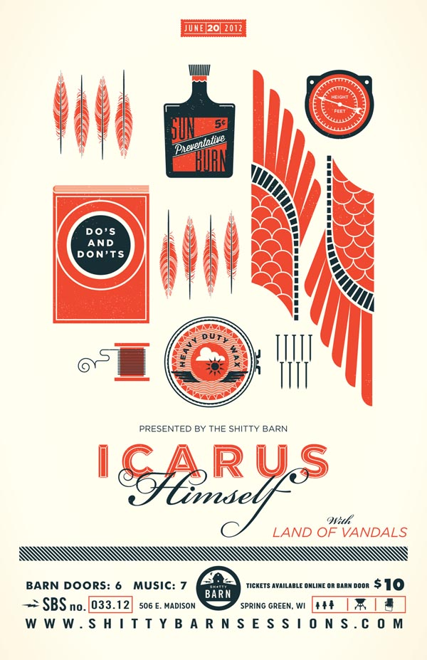 Icarus Himself - Illustrated Print by Alex Perez