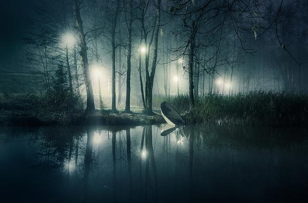 Lake at Night Landscape Photography by Mikko Lagerstedt