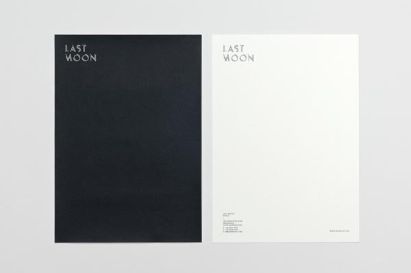 Last Moon Stationery by Graphic Designer Tomas Sabbatucci