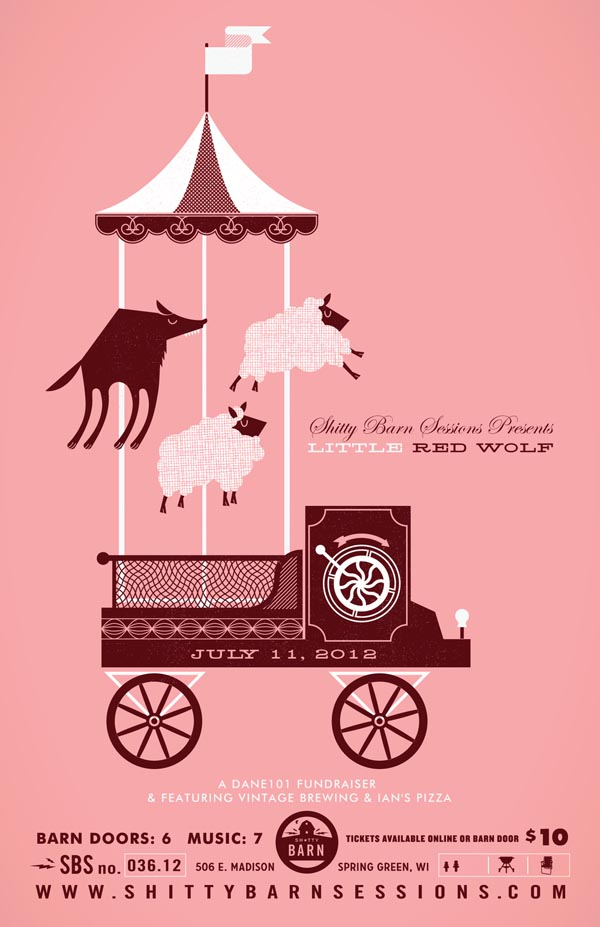 Little red wolf   poster illustration by alex perez – we and the color