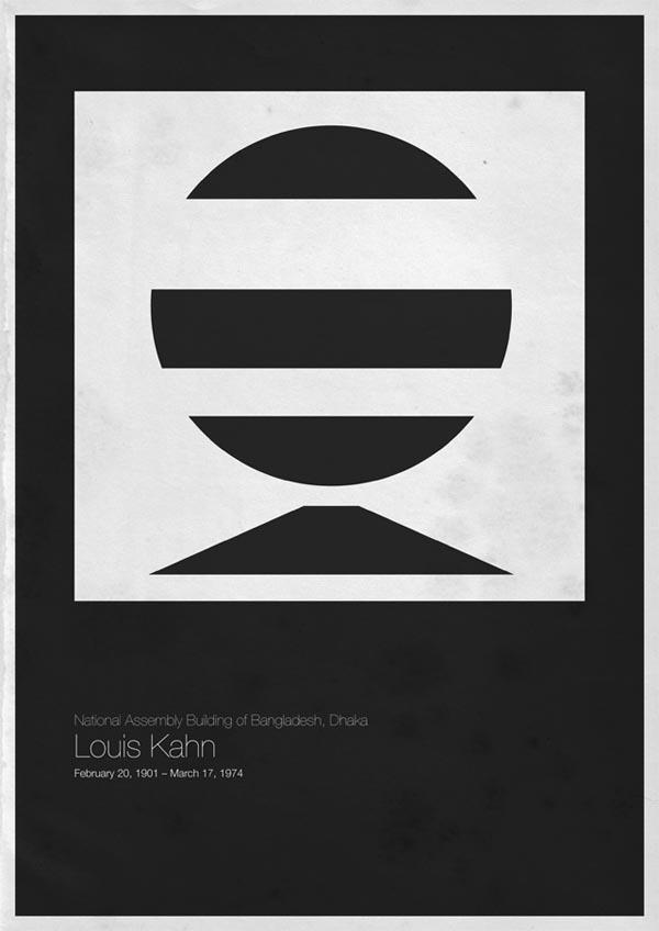 Minimalist architecture poster designs by andrea gallo for Art minimal architecture