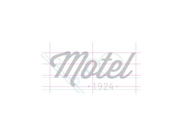 Motel - logo design by Otto Climan