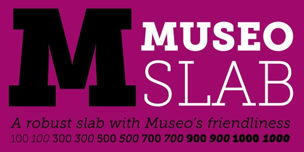 Museo Slab Serif Font by Typeface Designer Jos Buivenga