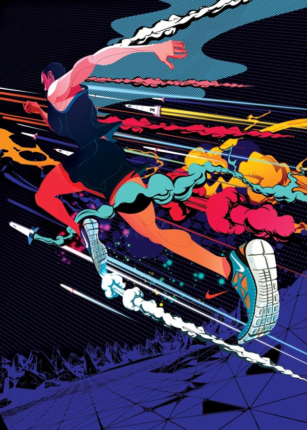 Nike Free Running Campainge Illustrations by I Love Dust
