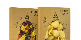 Packaging for premium pasta brand Pietro Gala