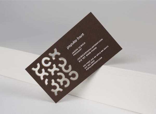 Popular Front Business Card Design by Nathan Hinz