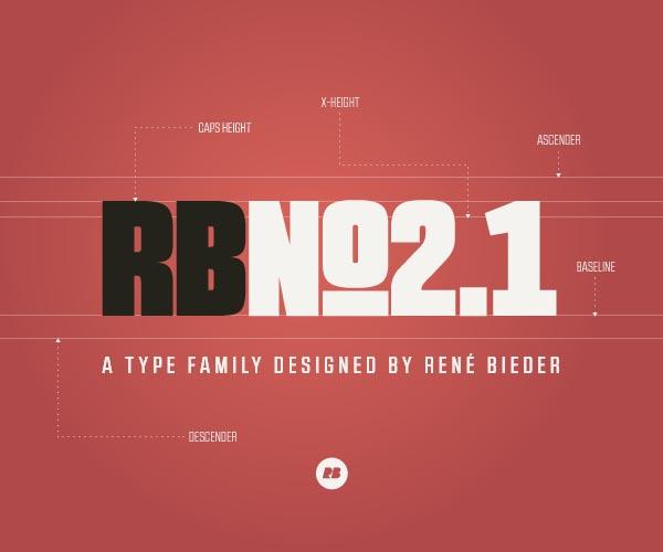 RBNo2.1 Sans Serif Font Design by Rene Bieder