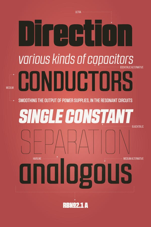 RBNo2.1 Sans Serif Typeface Design by Rene Bieder