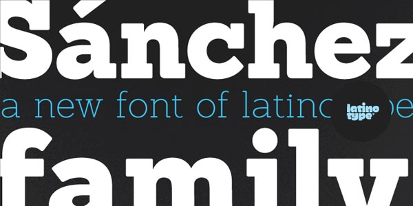 Sánchez Font Serif Typeface designed by Daniel Hernández