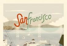 San Francisco Vintage Style Poster Illustration by Kevin Dart
