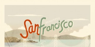San Francisco Vintage Style Poster Illustration by Kevin Dart