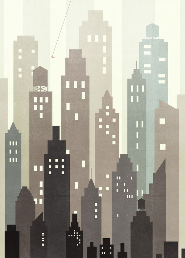 Spiderman Wall Illustration by Alessandro Gottardo