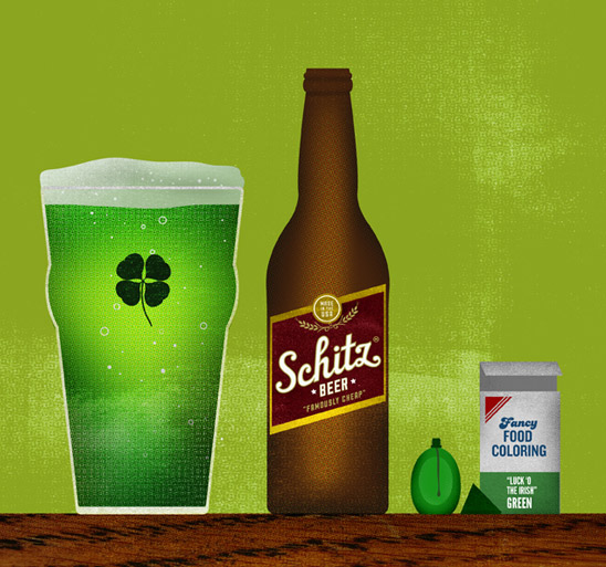 St. Patrick's Day - Beer Illustration by Brian Danaher