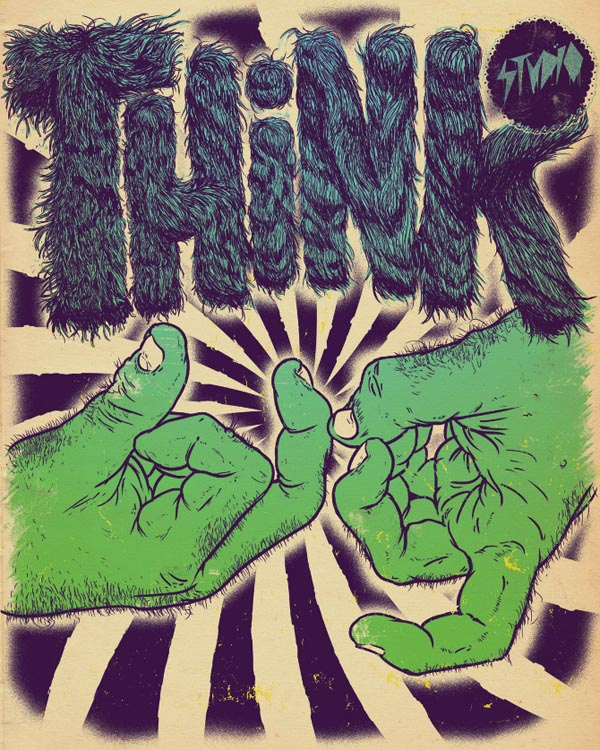 Think Big Poster and Apparel Design by Bett Peter Stenson