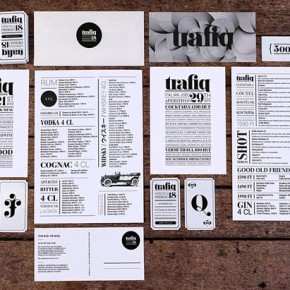 Trafiq Vintage Typography Brand Design by Kiss Miklos