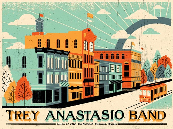 Trey Anastasio Band Poster by Doe Eyed