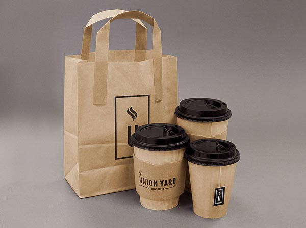 Union Yard cafe packaging design by Matthew Hancock