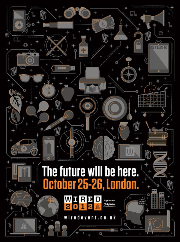 Wired Illustrated Event Poster by I Love Dust