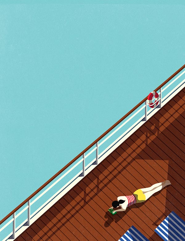 AFAR Magazine - The Cruise Illustration Series by Malika Favre