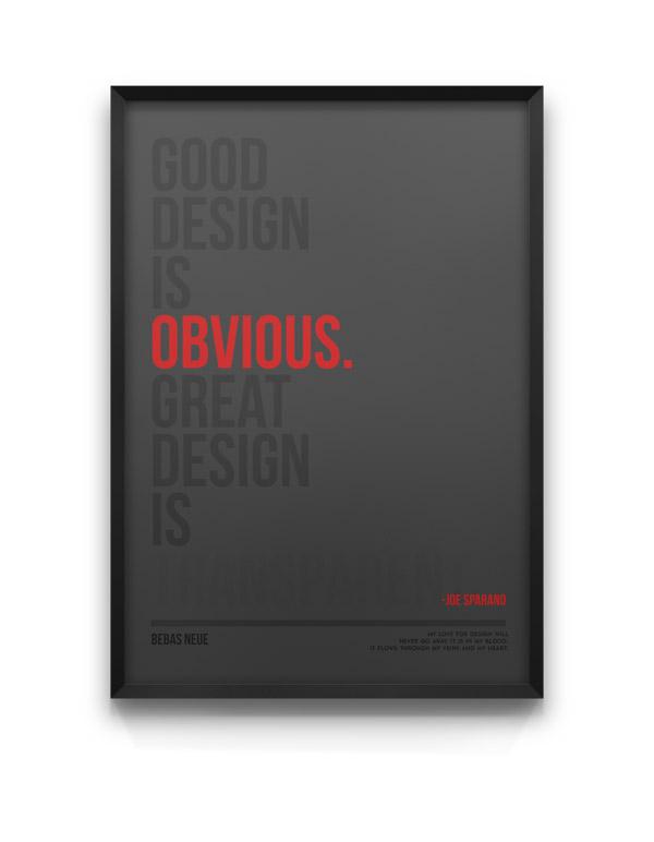 Bebas Neue - Typeface Poster Design by Moe Pike Soe