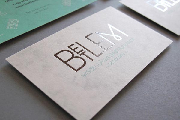 Betlem Gastro Bar Business Cards Design by Toormix