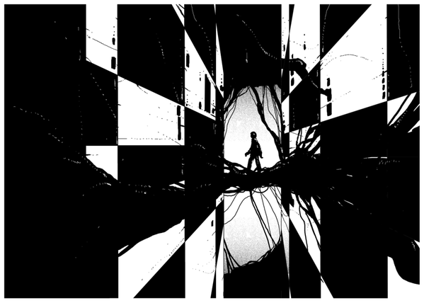 Black and White Illustration by Kilian Eng