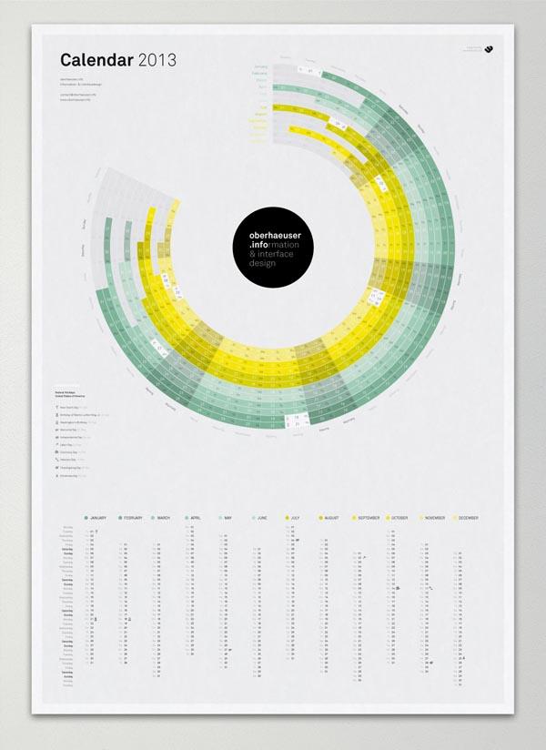 Calendar Graphic Maker : Calendar design by martin oberhäuser