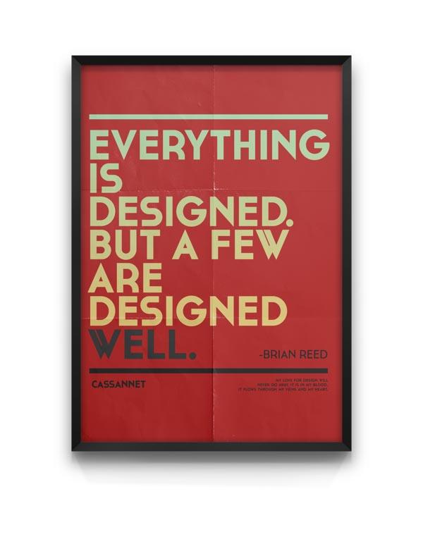Cassannet - Typeface Poster Design by Moe Pike Soe
