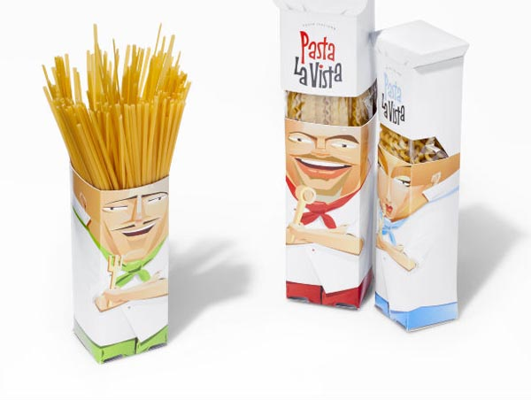 Creative Packaging Design for Pasta La Vista by Andrew Gorkovenko