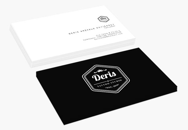 Deris Tattoo Studio Business Cards Designed by Andrés De la Hoz