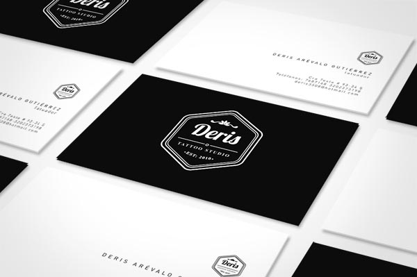 Deris Tattoo Studio - Identity Design by Andrés De la Hoz