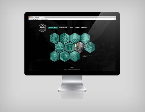 Deris Tattoo Studio - Website Design by Andrés De la Hoz