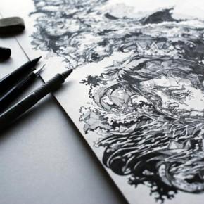 Drawings by Viktor Miller-Gausa