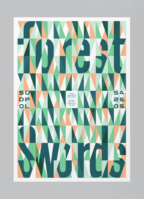 Forest Swords - Südpol Graphic Poster Design by Felix Pfäffli