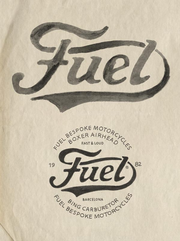 Fuel Motorcycles - Hand Drawn Logo by BMD Design