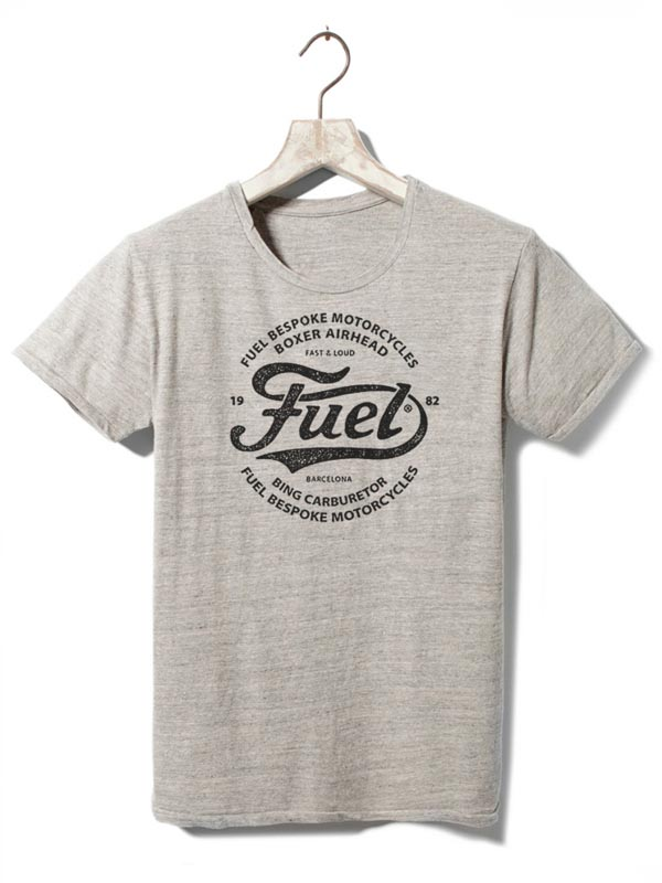 Fuel Motorcycles T-Shirt with Logo by BMD Design