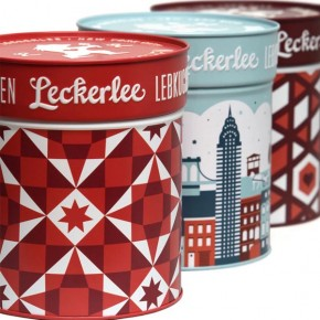 Leckerlee Gingerbread/Lebkuchen Tin Package Design by Strohl